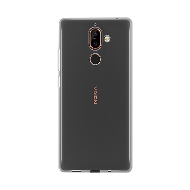 کاور ژله ای مدل Soft Gel Clear برای گوشی موبایل Nokia 7 Plus