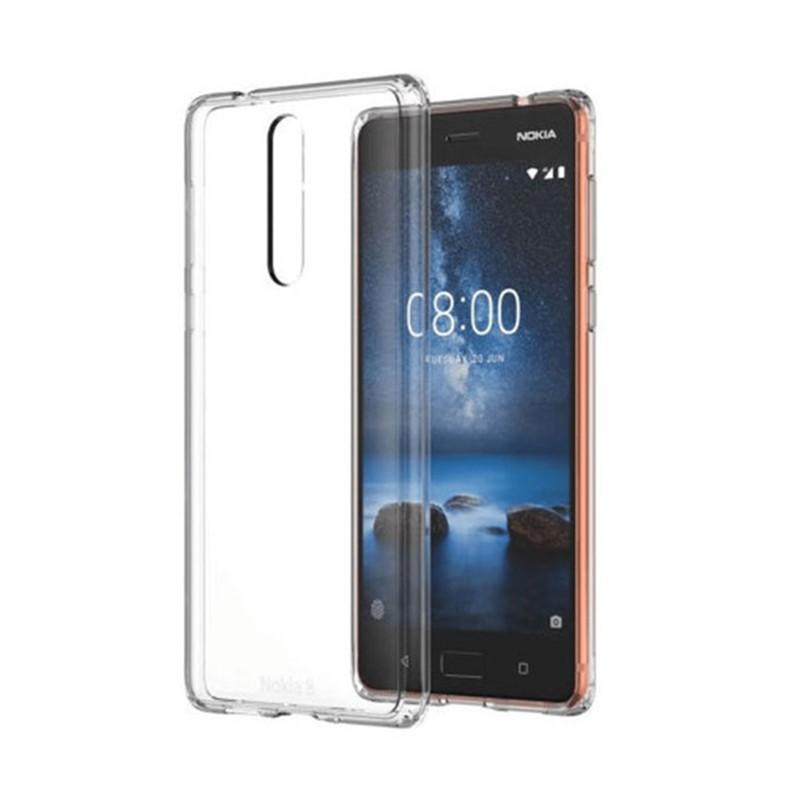 کاور ژله ای مدل Soft Gel Clear برای گوشی موبایل Nokia 8