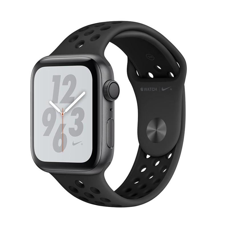 اپل واچ سری 4 مدل Nike Plus 44mm بدنه استیل ضد زنگ به رنگ مشکی با بند فلزی