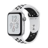 اپل واچ سری 4 مدل Nike Plus 44mm بدنه آلومینیوم به رنگ نقره ای با بند سیلیکونی