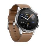 ساعت هوشمند آنر Magic 2 مدل 46mm بدنه استیل با بند چرم مصنوعی