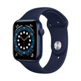 اپل واچ سری 6 مدل 40mm بدنه آلومینیوم به رنگ آبی با بند سیلیکونی