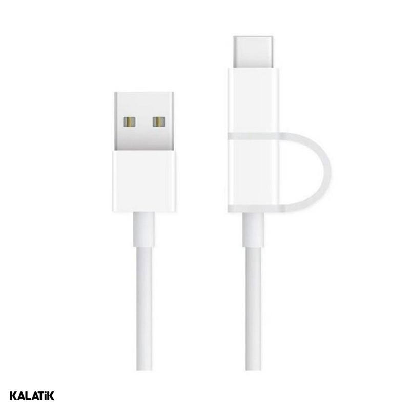 کابل تبدیل USB Type-A به Micro USB/USB Type-C شیائومی ZMI مدل AL501 به طول 1 متر