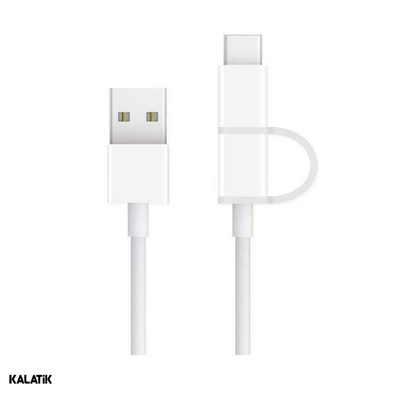 کابل تبدیل USB Type-A به microUSB/USB Type-C زد ام آی شیائومی مدل AL501 به طول 1 متر